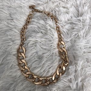 Thick Chunky Gold Tone Adjustable Choker Necklace